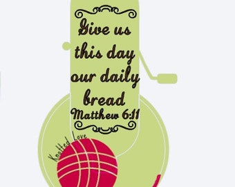 """KitchenAid mixer decal """"Give us this day our daily bread"""""""