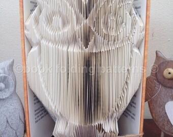 owl  book folding pattern