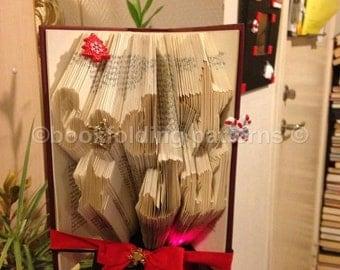 god jul   book-folding pattern