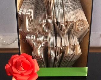 I love you   book folding pattern