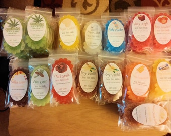 5 (2pk) Highly Scented Soy Wax Tarts [10 total]--Assorted scents + Free gift