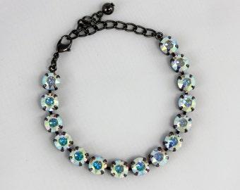 Aurora Borealis 8mm Swarovski Crystal Bracelet