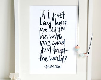 Snow Patrol Lyric Print