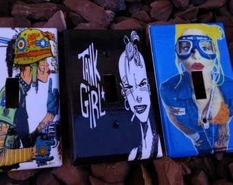 TankGirl Light Switch Covers