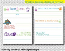 INSTANT DOWNLOAD Printable Easter coupons DIY gift, Easter Day Coupons, Easter Cards, Easter gift, Love gift