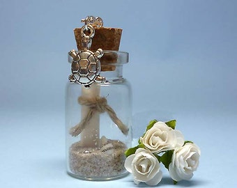 A TRADITIONAL Message In A Bottle + Detachable Clip On Charm