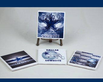 Dallas Cowboys ceramic coasters set of 4 nfl