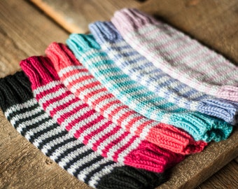 Knit baby leg warmers - made to order!