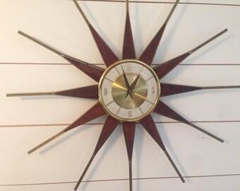 Vintage Elgin Atomic Starburst Sunburst 26 Quot Clock