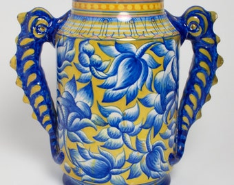 Cantagalli lustre pottery lustre vase