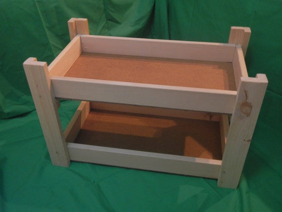 solid wood 18 doll bunk bed. Black Bedroom Furniture Sets. Home Design Ideas