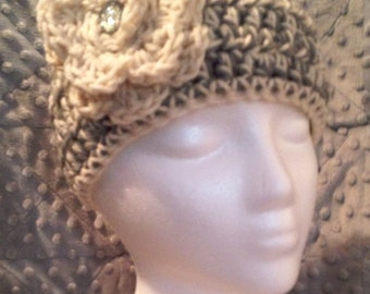 Crochet Woman's Earwarmer with Flower