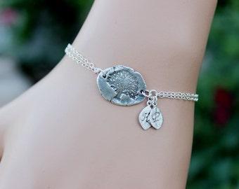 Family Tree Bracelet, Personalized Bracelet,Tree of Life Mother bracelet, Friendship bracelet, Initial bracelet, Christmas Gift