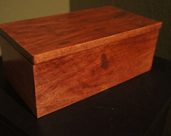 Handmade Poplar Box with Scarlet Red Stain