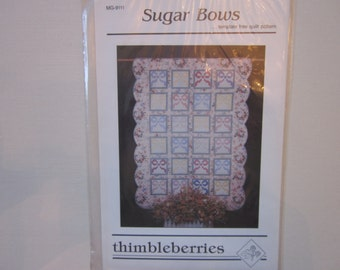 Sugar Bows full size quilt pattern, Thimbleberries,vintage