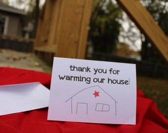 Thanks For Warming Our House // 5 Thank You Cards