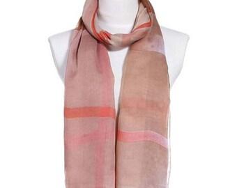 Womens Scarf, Stripe Print Scarf, Floral Scarf, Fashion Scarf, Chiffon Scarf, Cotton Scarf