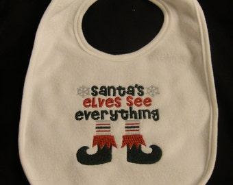 Santa's Elves See EVERYTHING Bib