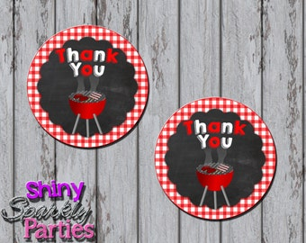 Printable BBQ FAVOR TAGS - Bbq Baby Shower Favor Tags - Barbecue Themed Party Favor Tags - Bbq Thank You Tags - Baby-Q Favor Tags