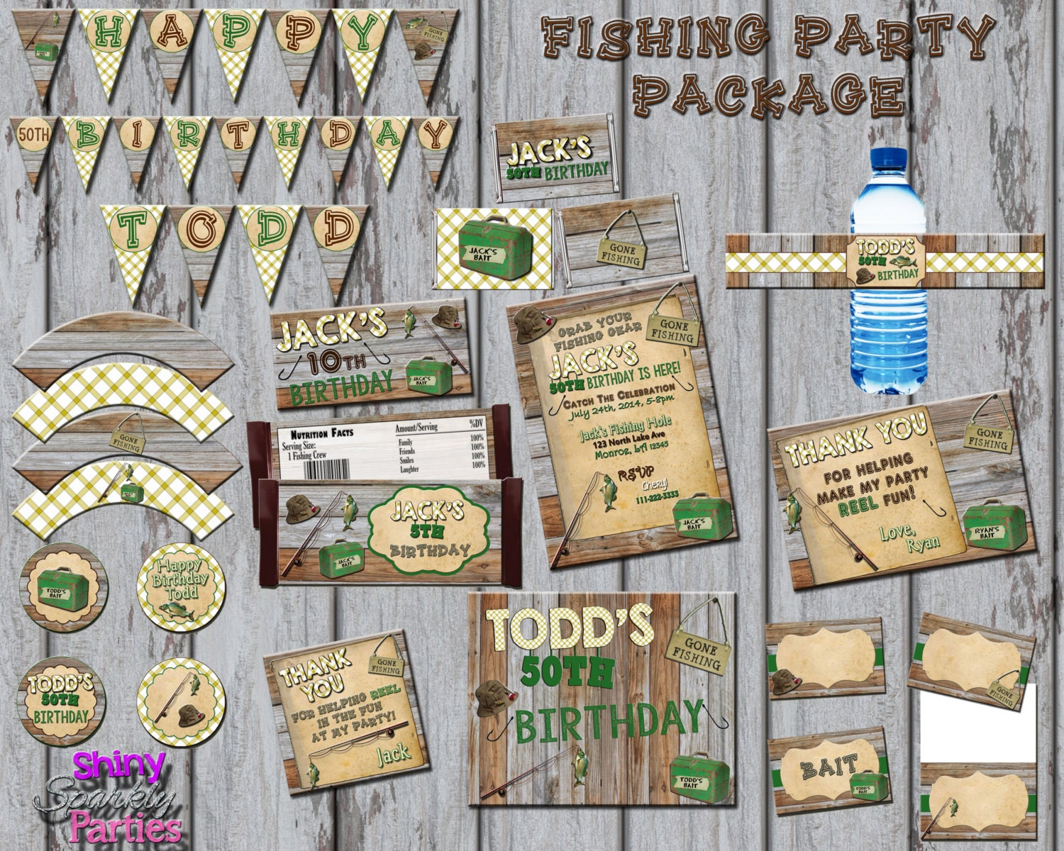 Fishing party fishing birthday fishing birthday party for Fishing themed party supplies