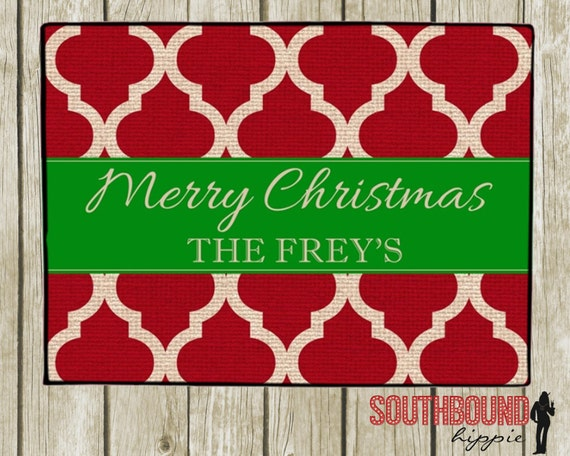 Personalized Christmas Doormats