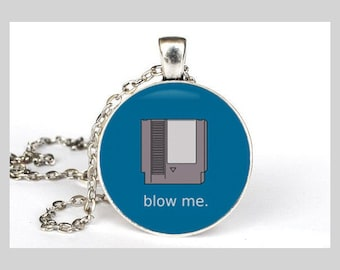 Blow Me Inspired Necklace in Silver