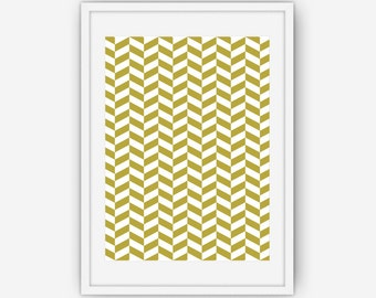 Gold Chevron Wall Art, Gold Print, Abstract Wall Art, Gold Wall Art, Wall Art, Printable, Instant Download
