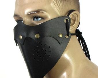 Cuir dur masque, unisexe, couleurs noir ou marron