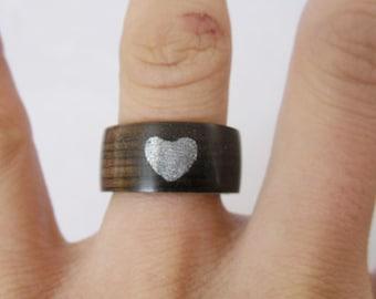 Private custom wood ring.