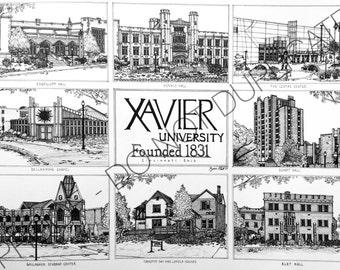 Xavier University Ink Drawing