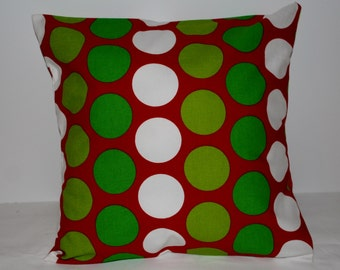 Christmas Polka Dot Decorative Pillow Covers made for your home.