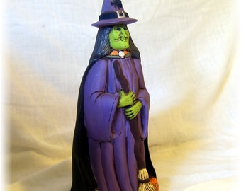 Hand-Painted Ceramic Witch