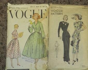 2 Vintage Sewing Patterns
