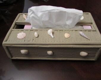 Sea Shell Tissue Box Cover