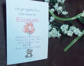 Baby shower invitation cards with envelops