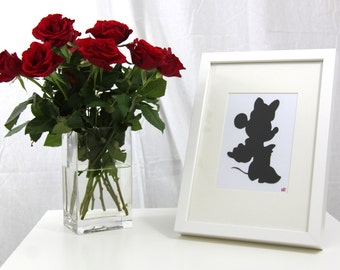Disney Minnie Mouse Silhouette Framed Picture
