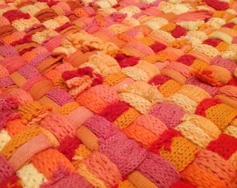 Handmade potholder rug 82x56