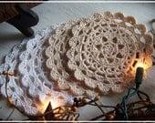 Handmade Crocheted Doilies - Set of 2