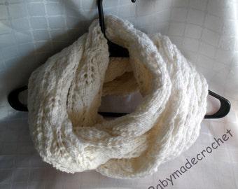 Knit Leaf Infinity Scarf - Knit pattern
