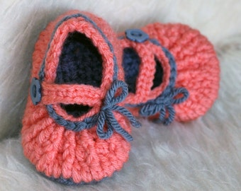 Mary Jane Baby Shoe Crochet