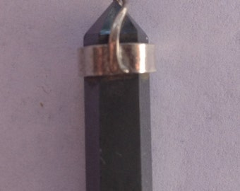 Sterling Silver Hematite Point Pendant