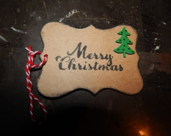 Rustic Christmas Gift Tags - Christmas Gift tags - Holiday gift wrap - Holiday gift tags - Christmas Tree Tags - Unique Gift Tags - Set of 4