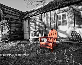 Rustic Red Chair - Fine Art Photography