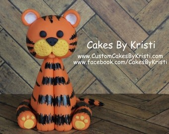 Fondant Tiger Cake Topper (MADE TO ORDER)