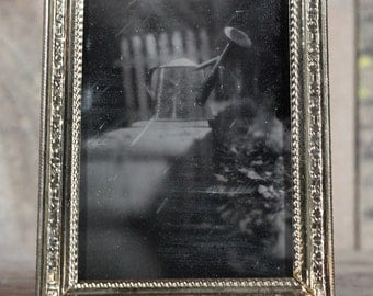 Collodion Tintype Photograph of a Watering Can, wet plate quarter plate