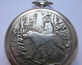 Pocket watches Молния USSR Wolves