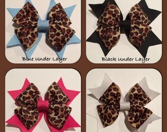 Cheetah/Leopard Animal Print Hair Bow
