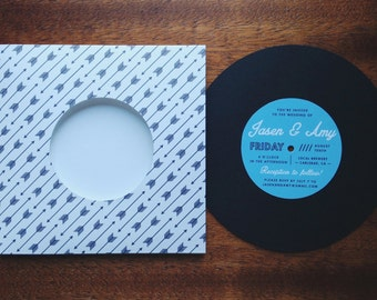 Popular items for vinyl invitation on etsy for Etsy vinyl wedding invitations