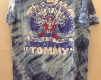 Rare Vintage The Who Celebrating 25 Years 1964-1989 Tommy World Tour T-Shirt John Entwistle Doug Sandom Keith Moon Kenney Jones