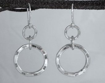 Hill Tribe Fine Silver Hoop Earrings